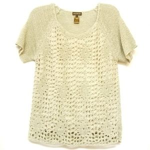 Multiples Short Sleeve Knit Top